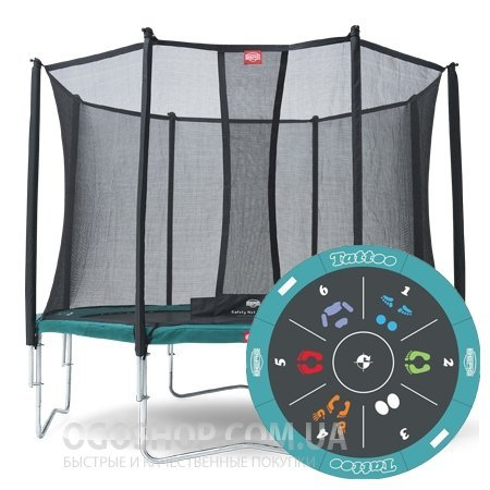 Батут Berg Favorit Tattoo 430 см и защитная сетка Safety Net Comfort 430